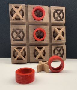 CNC Carved Tic-Tac-Toe Game