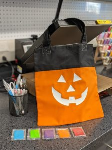 Jack O' Lantern Tote with Glow-in-the-Dark Face