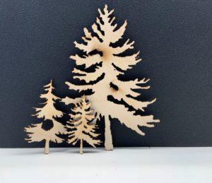 Laser Cut Trees
